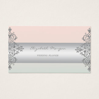 Elegant Modern Professional Charming,Lace Business Card