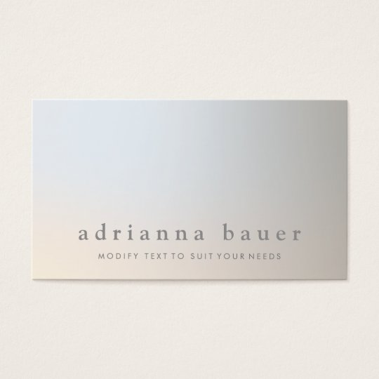 Elegant Modern Professional Luminous Taupe Grey Business Card