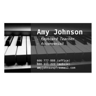 Elegant, Modern, Professional, Piano Teacher Business Card Templates