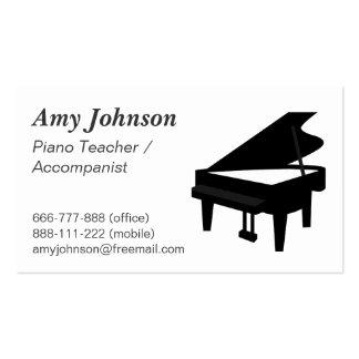 Elegant, Modern, Professional, Piano Teacher Business Cards