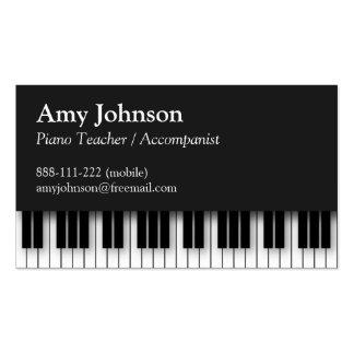 Elegant, Modern, Professional, Piano Teacher Pack Of Standard Business Cards