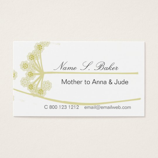 Elegant Modern Professional Wildflower Floral Business Card