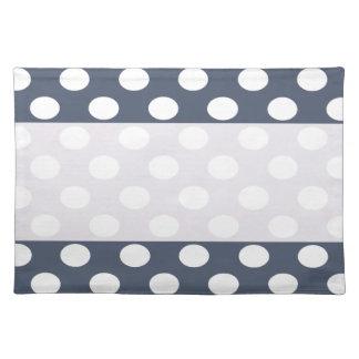 Elegant modern romantic polka dots personalized place mats
