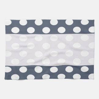 Elegant modern romantic polka dots personalized tea towel