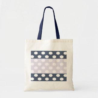 Elegant modern romantic polka dots personalized tote bag