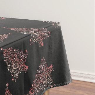 Elegant modern rose gold Christmas tree pattern Tablecloth