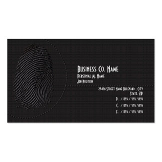 Elegant Modern Security Private Investigations Business Card Template