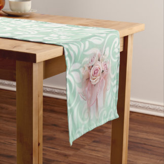 Elegant Modern Sophisticated Stylish,Roses Short Table Runner