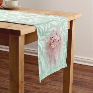 Elegant Modern Sophisticated Stylish,Roses Short Table Runner