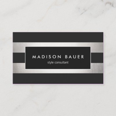 Faux Silver Foil Lips And Confetti Makeup Artist Business Card