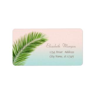 Elegant Modern Stylish,Palm Leaves Address Label