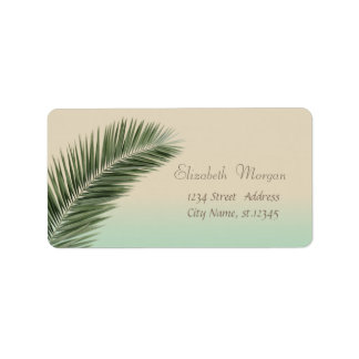 Elegant Modern Stylish,Palm Leaves Label
