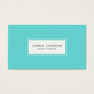 Elegant Modern Tiffany Blue Business Card