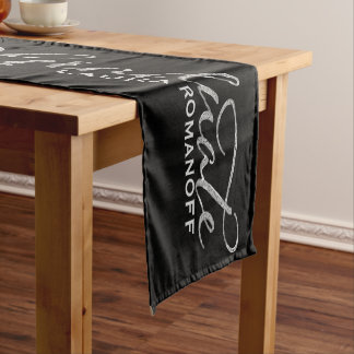 Elegant Modern Typography Graduate Short Table Runner