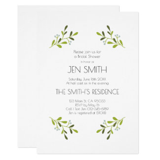 Elegant Modern Wedding. Bridal Shower Invitation. Card