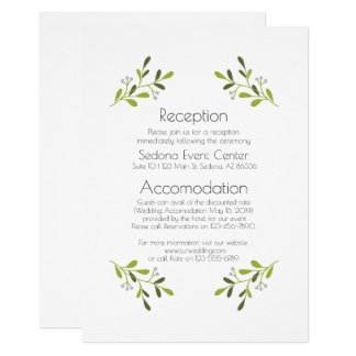 Elegant Modern Wedding Invitation. Reception. Card