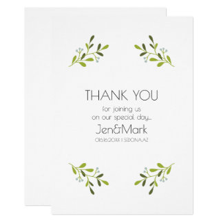 Elegant Modern Wedding Invitation. Thank You Card