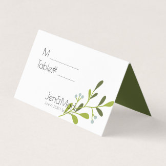 Elegant Modern Wedding. Place Holder. Table Number Place Card