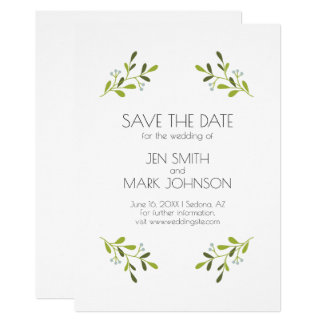 Elegant Modern Wedding. Save The Date. Card
