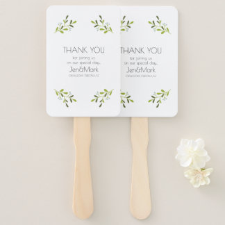 Elegant Modern Wedding. Thank You. Hand Fan