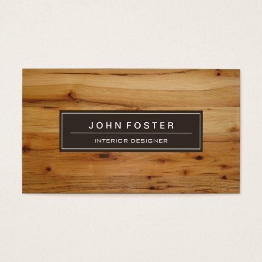 Elegant Modern Wood Grain Look Business Card