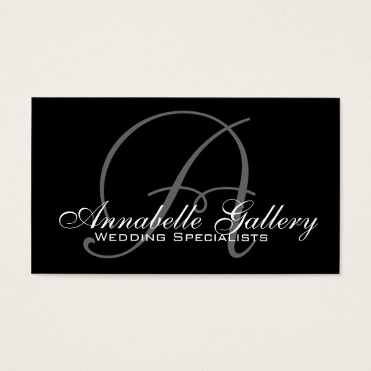 Elegant Monogram A Customisable Business Card