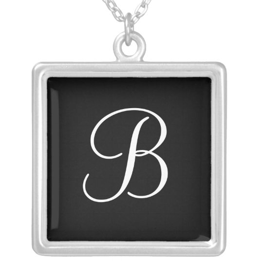 Elegant Monogram B Pendant Necklaces Black