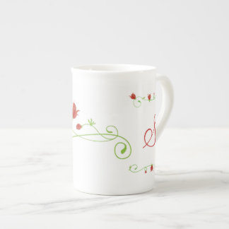 Elegant Monogram Bone China Mug