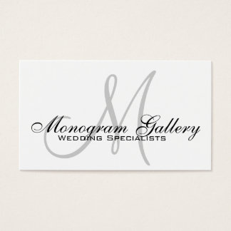 Elegant Monogram Customizable Business Card
