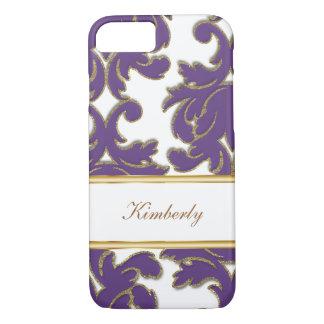 Elegant Monogram Damask Style iPhone 8/7 Case