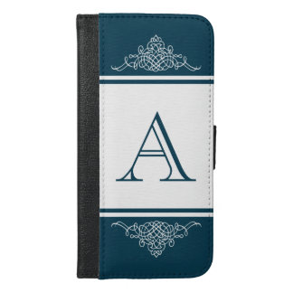 Elegant monogram design iPhone 6/6s plus wallet case