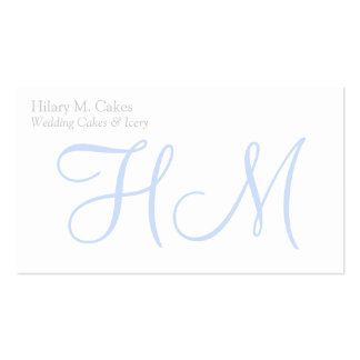 Elegant Monogram Designer Business Card
