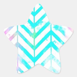 Elegant Monogram Floral pink and blue Star Sticker