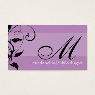 elegant; monogram flourish business card