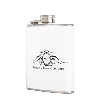 Elegant Monogram Groomsmen Gift Flasks