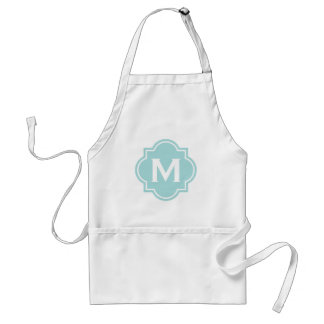 Elegant monogram kitchen aprons for women
