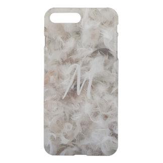 Elegant Monogram M Funny Bird Feathers Photography iPhone 7 Plus Case