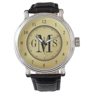 Elegant Monogram Men's Personalized Watch