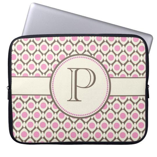 Elegant Monogram Modern Pattern Laptop Bag Computer Sleeve