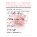 Elegant Monogram Pink Daisy Wedding Invitation