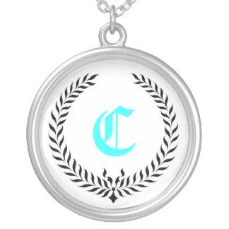 Elegant Monogram Silver Plated Necklace