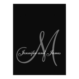 Elegant Monogram Wedding Invitations Large Size
