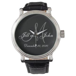 Elegant Monogram Wedding Watch