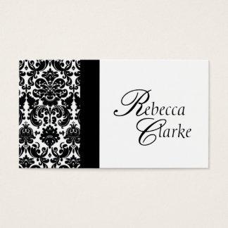 Elegant Monogrammed Damask Busines Card