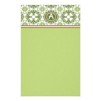 Elegant Monogrammed Green Celtic Stationery