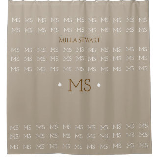 elegant monogrammed / personalized shower curtain