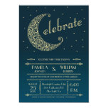 Elegant Moon Wedding Invitation 13 Cm X 18 Cm Invitation Card