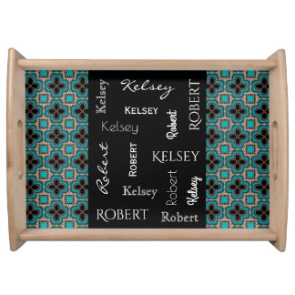 Elegant Moroccan w/Names Serving Tray