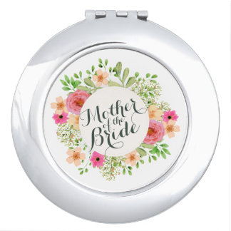 Elegant Mother of the Bride Wedding Compact Mirror