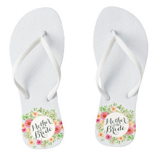Elegant Mother of the Bride Wedding Flip Flops
